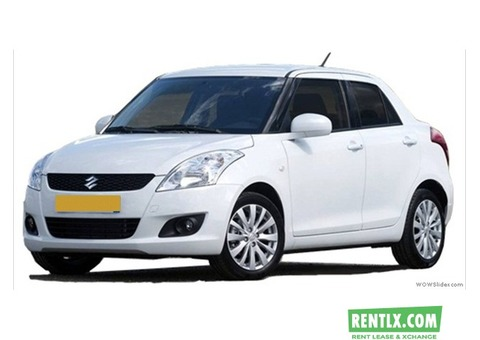 Swift desire car hire for outstation tours on rent