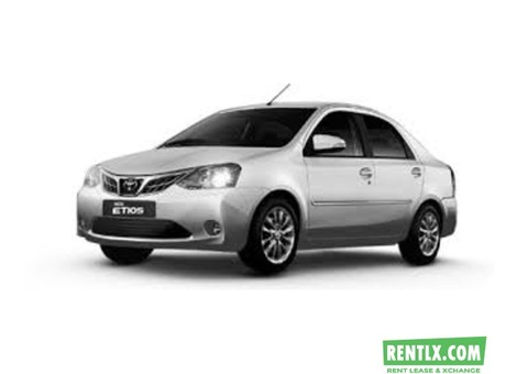 Toyota etios car hire for outstation tours - Deihi