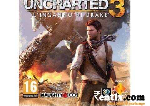 Uncharted 3 ps3 for rent