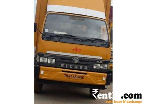 Eicher 11.10 closed body commercial vehicle for rent - Chennai