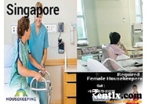 Urgent requirement of Female Housekeeper for hospital in Singapore