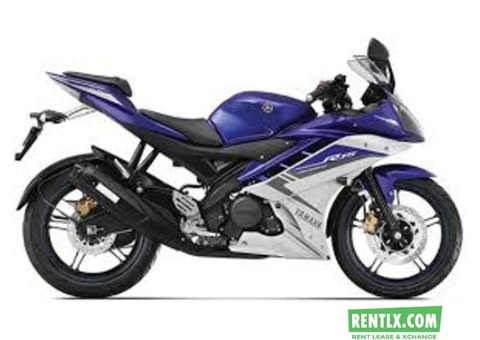 Yamaha R15 on rent in Kolkata