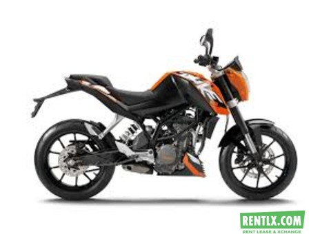 Ktm Duke 200 on rent in Kolkata
