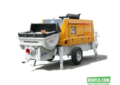 Concrete pump on Rent