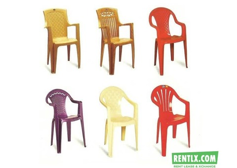 Plastic Chairs on Rent