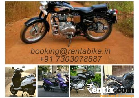 Two wheeler bike rental in Goa