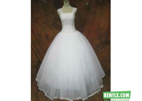 Wedding gowns and flower girl dresses on Hire in Kochi