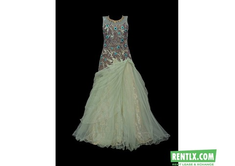 Pista Green Gown on Hire in Hyderabad