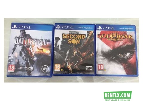Playstation 4 3 Games on Hire in Ghaziabad
