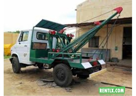 Towing Recovery Crane for rent at puthencruz Kochi
