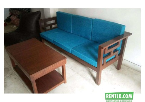 Wooden Sofa Set on Rent In Gurgaon