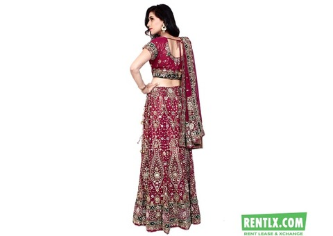 Bridal lehenga on rent In Vellore