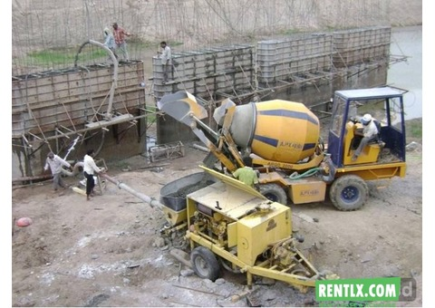 Self loading automatic concrete mixture machine on Rent in Lucknow