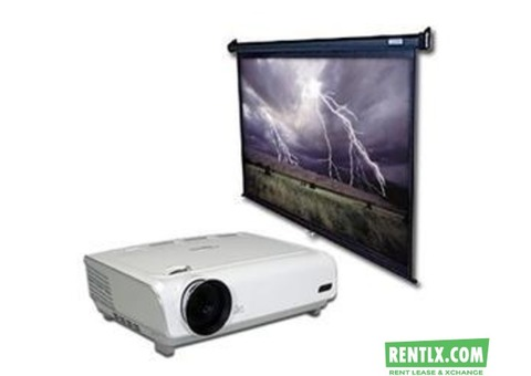 Projector and Screen for rent in Hyderabad