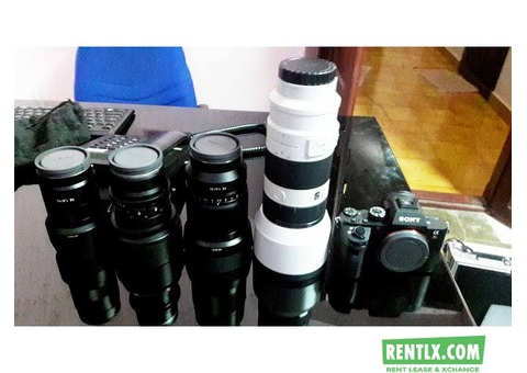 Camera and Lenses on Hire in Trivandrum