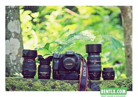Canon dslr camera on rent in Kochi