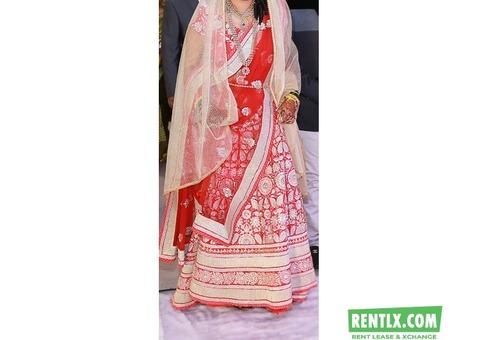 Designer Bridal Ghagra Lehenga on Rent in Pune.