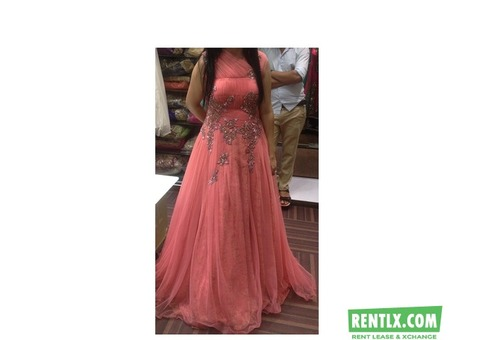 Beautiful Peach Color Gown on Rent in Mumbai