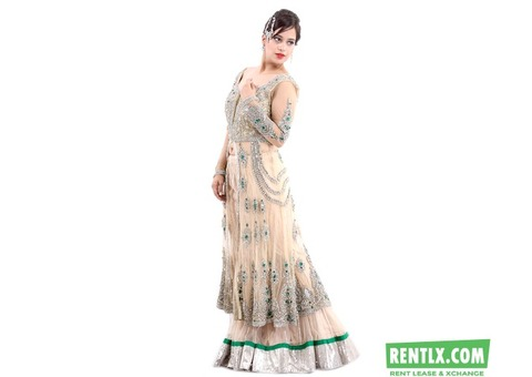 Designer Red Bridal Lehenga On rent in New Delhi