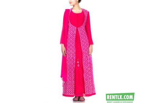 Pink Floor Length Dress on Rent in Ahmedabad