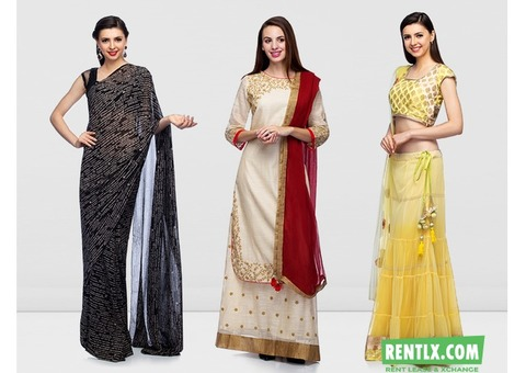 Designer ladies suits on Rent in Delhi