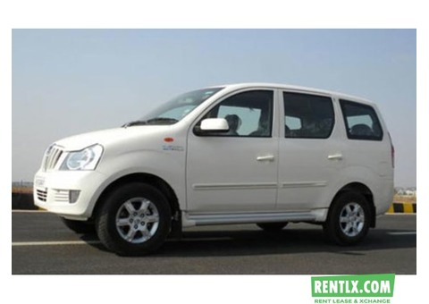 Mahindra Xylo 8 seater taxi plate on rent in Hyderabad