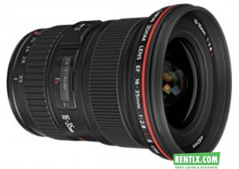 Canon 16-35 mm Lens F 2.8 on Rent in Bangalore