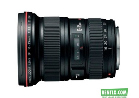 Canon EF 16-35mm f/2.8L II lens on Rent in Bangalore
