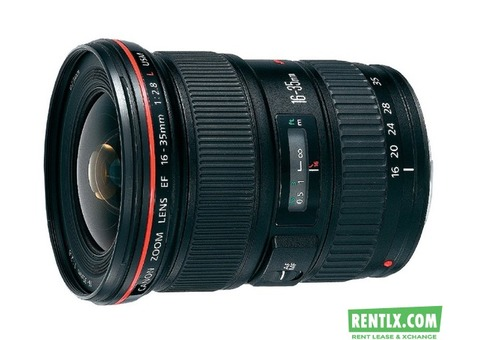 Canon EF 16-35mm f/2.8L USM Les on Rent in Bangalore