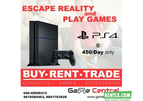 Rent PS4, PS3, Xbox Games & consoles in Hyderabad