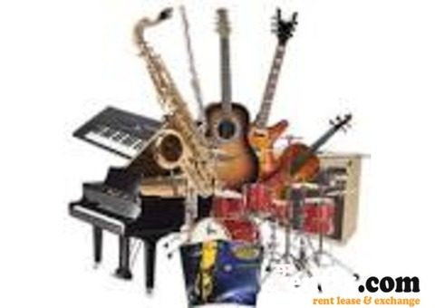 Musical instruments on rent
