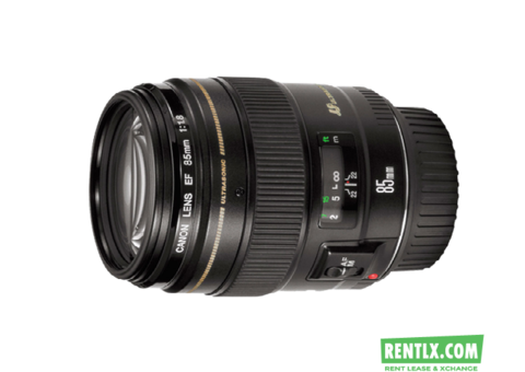 CANON 85 MM LENS 1.2, PRIME FIX ON RENT IN DELHI