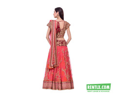 PINK & GOLD EMBELLISHED LEHENGA on Rent in Pune