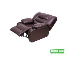 Single Seater Leather Recliner Sofa on Rent in Hyderabad