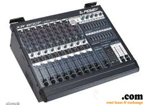 Sound and mixers for rent