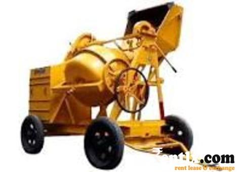 Concrete. mixer machince for  rent