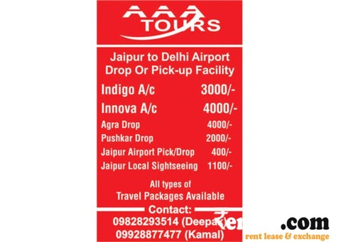 AAA TOURS DELHI TO JAIPUR DROP OR PICK DZIRE