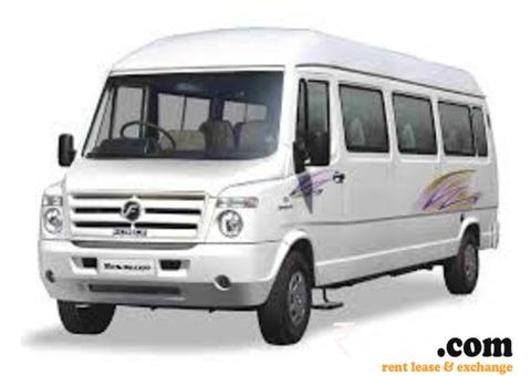 Tampo traveller on rent , car rental Udaipur