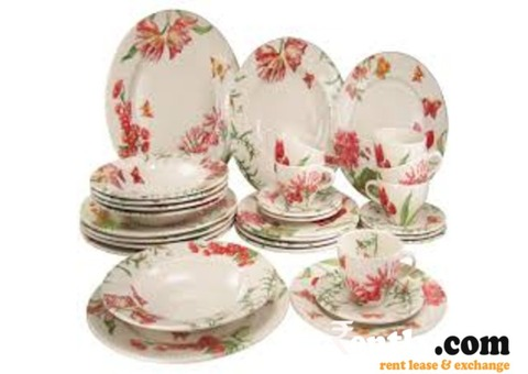 Crockery on rent