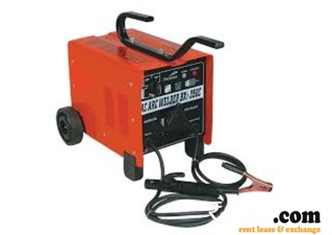Welding machine available for rent 215 Amp. portable 250 volts.