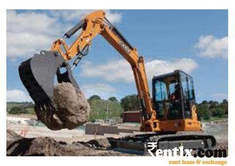 Available excavator on rent