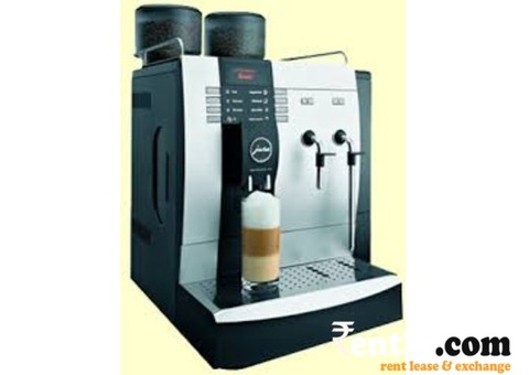 Tea coffee machine in New condition and rented for office using