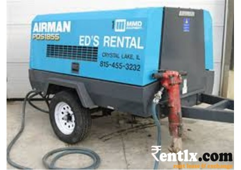 350 CFM Diesel driven air compressor on rent in Secunderabad