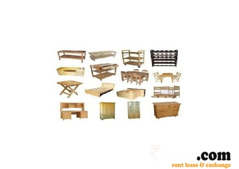 All types of wooden furniture are available on rent in Ghandi Nagar