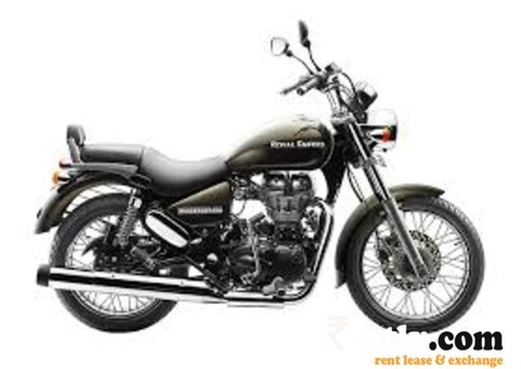 Royal Enfield Black 350 on Rent in Bangalore